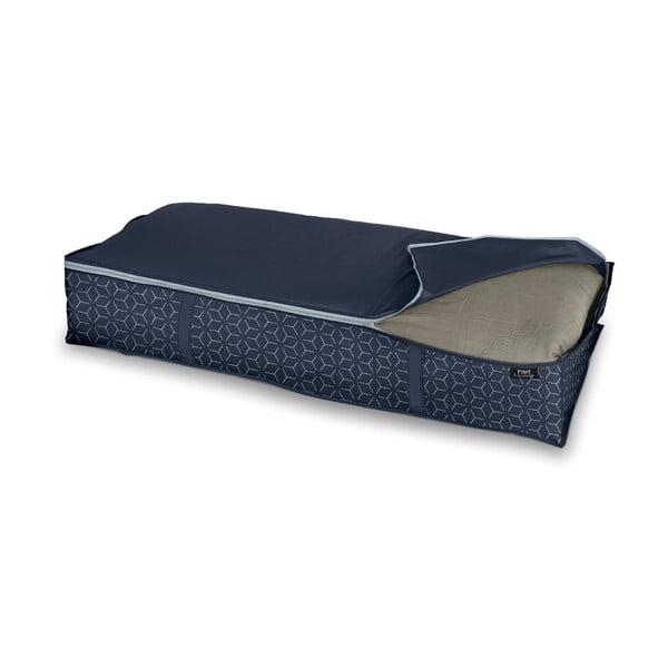 Tmavě modrý úložný box pod postel Domopak Metrik, 95x45cm
