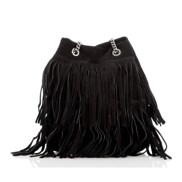 Černá kožená kabelka Glorious Black Naima