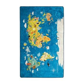 Covor copii World Map, 100 x 160 cm imagine