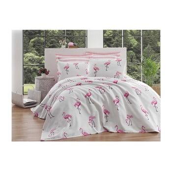 Cuvertură din bumbac pentru pat de o persoană Single Pique Tara, 160 x 235 cm imagine