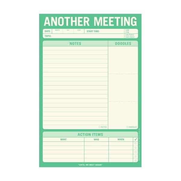 Zápisník na zaznamenávání schůzek Another Meeting