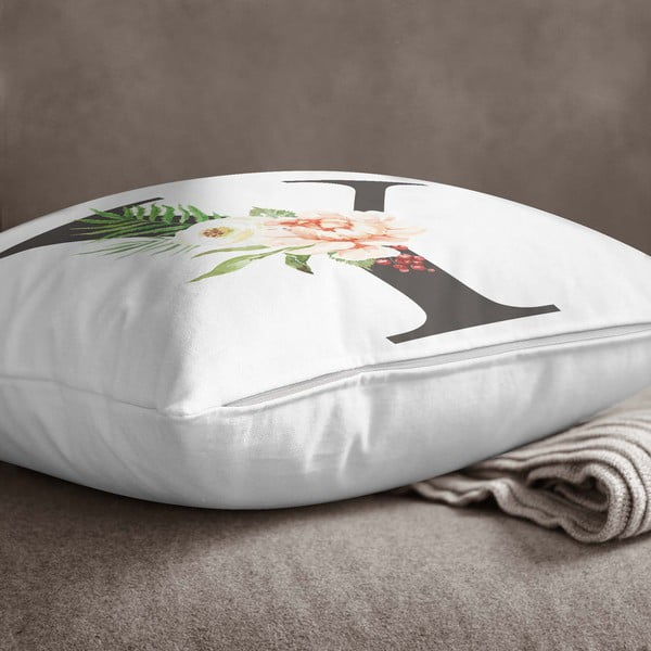 Față de pernă Minimalist Cushion Covers Floral Alphabet Y, 45 x 45 cm