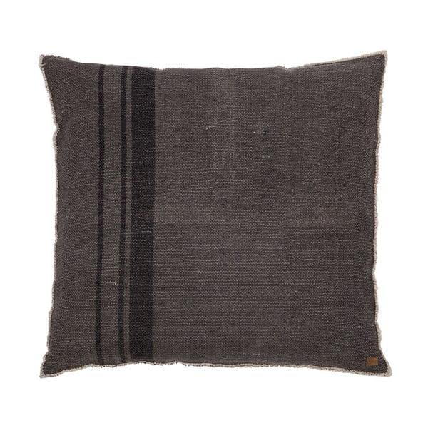 Tmavě šedý polštář BePureHome Coarse, 100x100cm