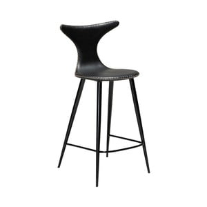 Černá barová židle z eko kůže DAN–FORM Denmark Dolphin, výška 97 cm