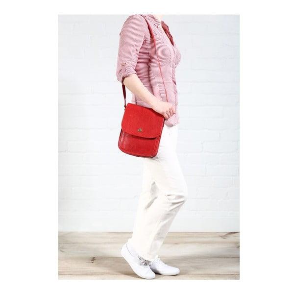 Dámská kožená taška Lucinda Cranberry