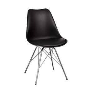 Černá židle se stříbrným podnožím Ixia Room