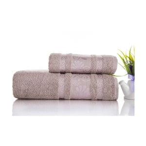 Sada 2ks ručníků Carmen Light Lilac, 50x90 a 70x140 cm