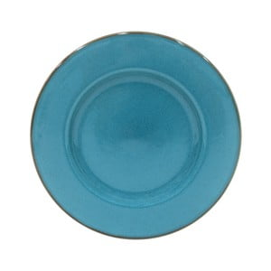 Modrý servírovací talíř z kameniny Casafina Sardegna,⌀34cm