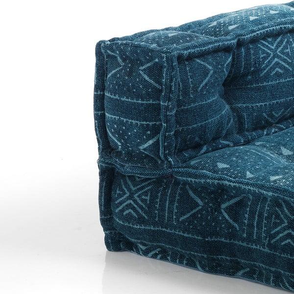 Tmavě modrý prostřední díl kpohovce Oreste Luchetta Yantra