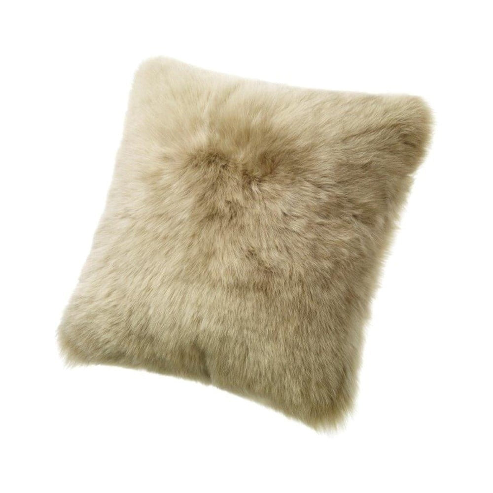 Béžový vlněný polštář z ovčí kožešiny Auskin Elliot, 50 x 50 cm