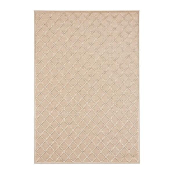 Krémový koberec Mint Rugs Shine Karro, 80 × 125 cm