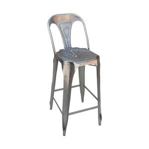 Barová kovová židle Chaise Grey