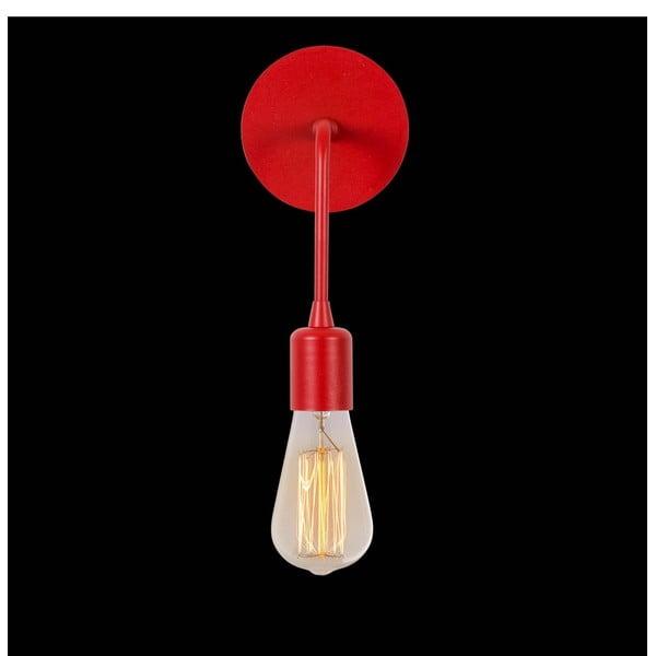 Červená nástěnná lampa Simple Drop