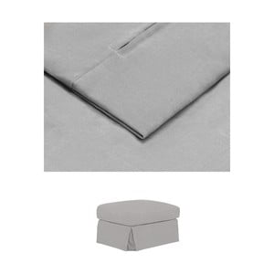 Světle šedý povlak na podnožku THE CLASSIC LIVING Jean