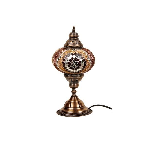 Stolní skleněná lampa Mosaic, ⌀17cm