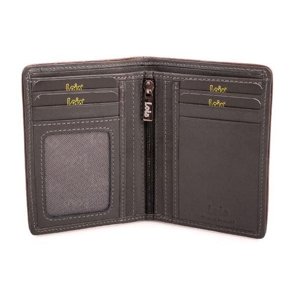 Kožená peněženka Lois Garments, 11x8 cm