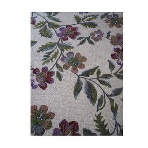 Vlněný koberec Florid Green, 140x200 cm