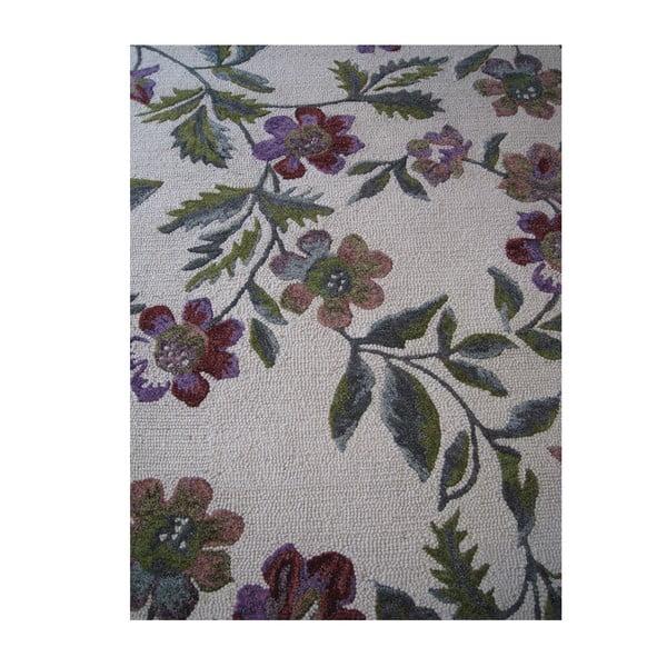 Vlněný koberec Florid Green, 160x230 cm
