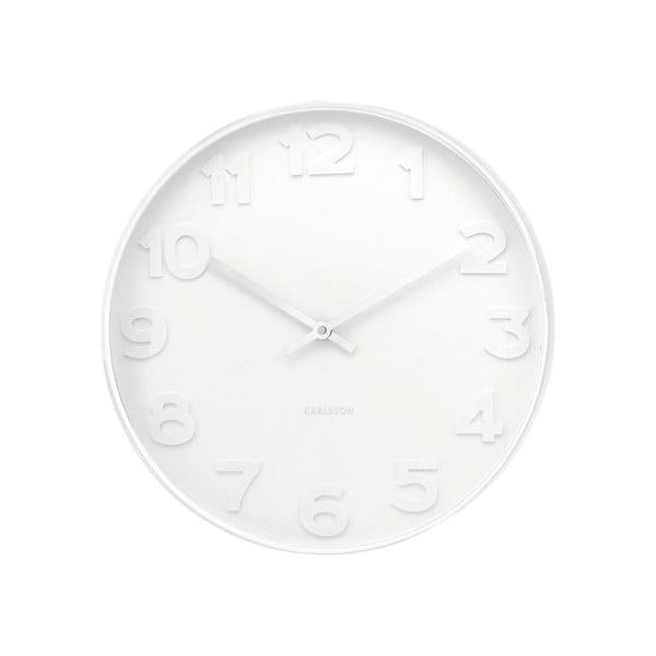 Bílé hodiny Karlsson Dentist, ø51 cm