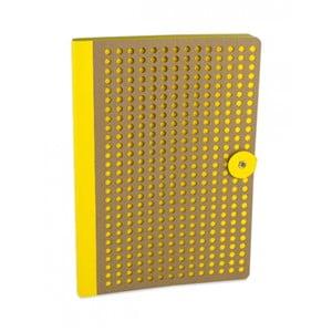 Žlutý zápisník Portico Designs Laser, 160stránek