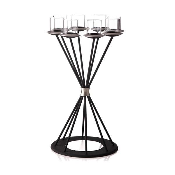 Svícen Majestic Glimmer Black na 8 svíček