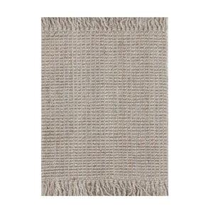 Jutový koberec Surface Silver, 160x230 cm