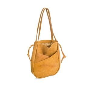 Tmavě žlutá kožená kabelka Woox Bella Deserta