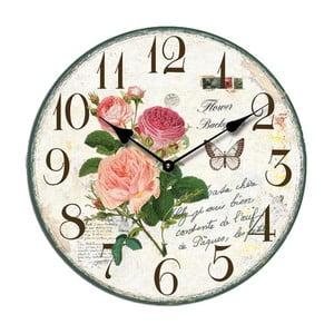 Hodiny Roses, 34 cm