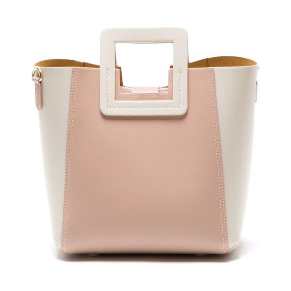 Kožená kabelka Camoa, růžová