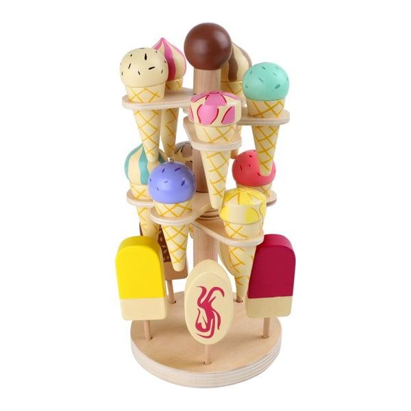 Ice Stand játék fagylaltszett állvánnyal, fából - Legler