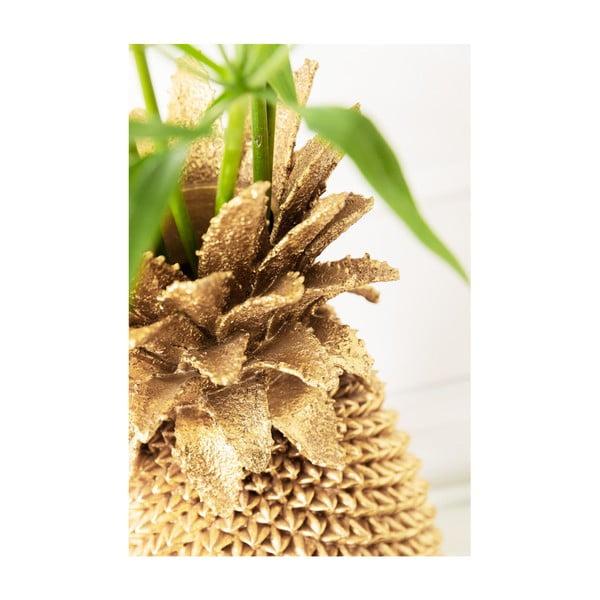 Vază decorativă Kare Design, înălțime 50cm, auriu