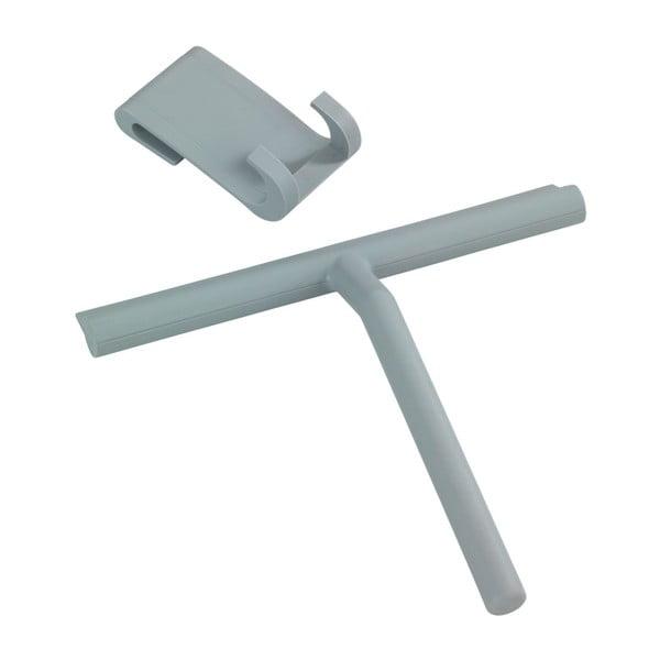 Šedá silikonová stěrka do sprchy Wenko Mola