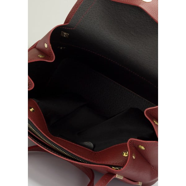 Kožená kabelka Lisa Minardi 5133 Bordo