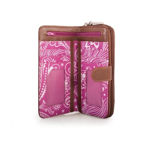 Bílo-růžová peněženka SKPA-T, 18 x 9 cm