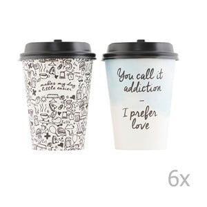 Sada 12 papírových kelímků s víčkem HouseDoctor Coffee