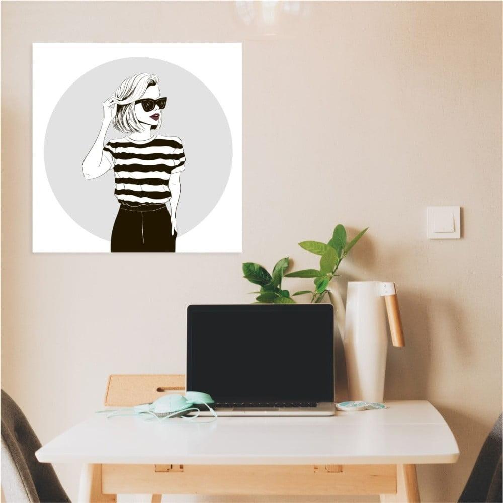 Nástěnný samolepicí obraz North Carolina Scandinavian Home Decors Girl V8, 30 x 30 cm