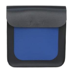 Černo-modrá kožená kabelka Vodka Blue Two Tone
