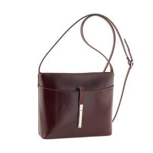 Tmavě hnědá kožená kabelka Tina Panicucci Rundo