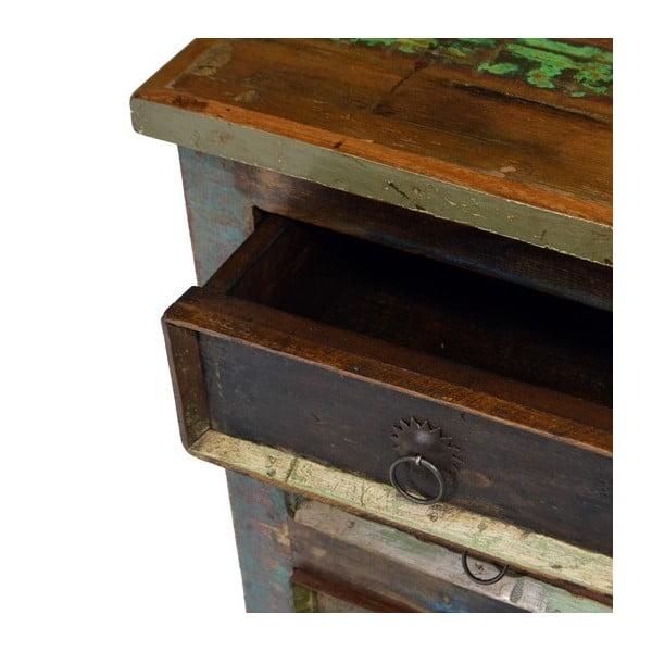 Dřevěná skříňka se třemi šuplíky Goa