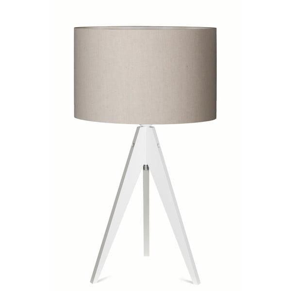 Stolní lampa Artist Grey/White, 65x33 cm