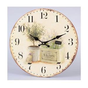 Dřevěné hodiny Savon Lavender, 34 cm