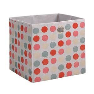Růžový úložný box 13CasaDotted