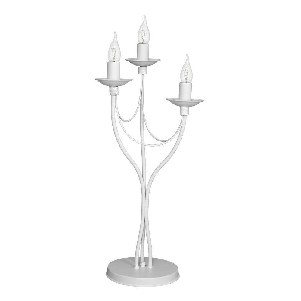 Bílá stolní lampa Glimte Spirit, výška 63 cm