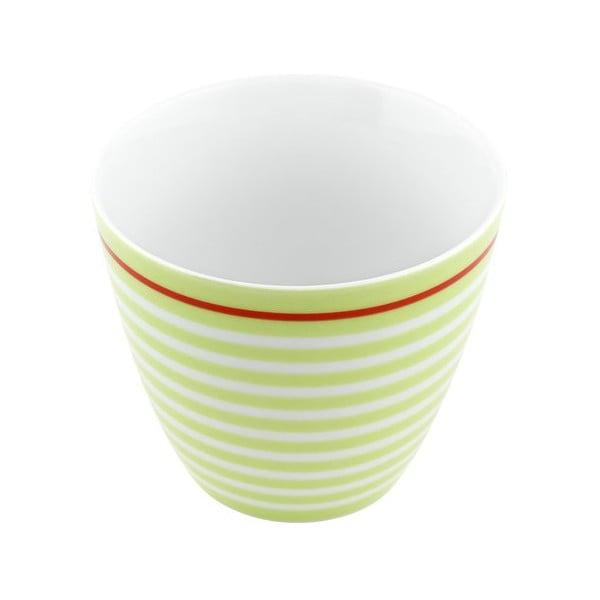 Porcelánový šálek Lines S, zelený 4 ks