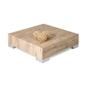 Konferenční stolek v dekoru dubu sherwood MobiliFiver Icube, 60x60cm