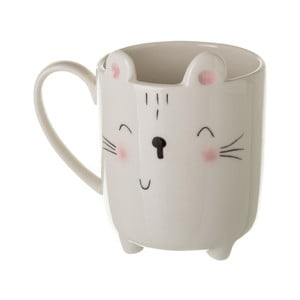 Bílý porcelánový hrnek Unimasa Kitty, 300 ml