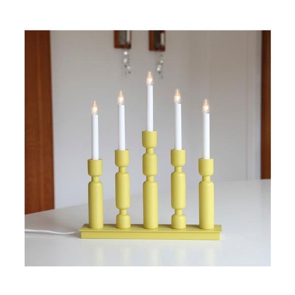 Žlutý LED svícen Best Season Uddebo