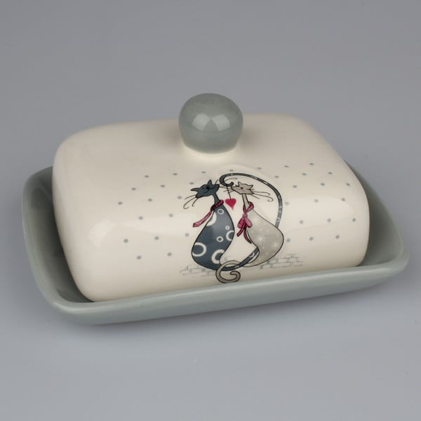 Keramická nádoba na maslo Dakls Cats