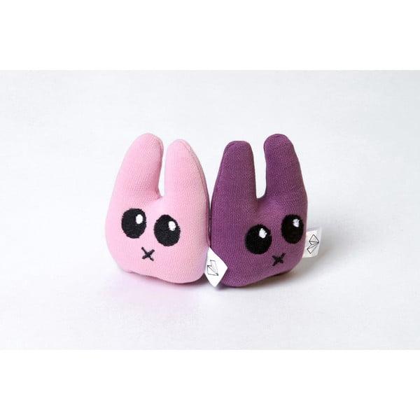 Mini plyšák Zajíc v krabičce, fialový