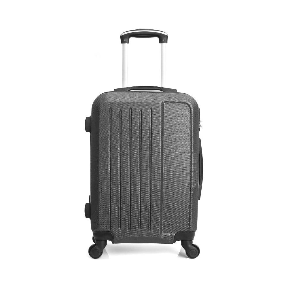 Tmavě šedý cestovní kufr na kolečkách Hero Maroko, 60 l